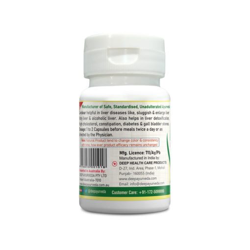 livclear herbal capsule | liver disorders, fatty liver, and high cholesterol | 30 and 60 capsule pack